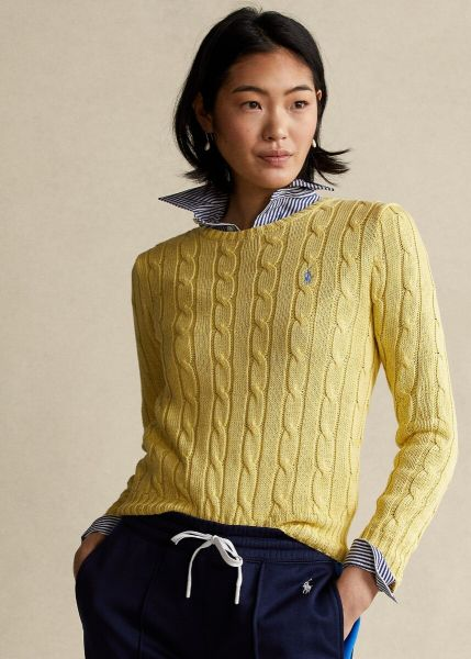 Ralph Lauren Long Sleeve Cable Knit - Yellow