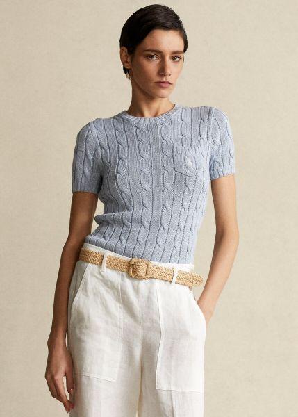 Ralph Lauren Short Sleeve Cable Knit - Pale Blue