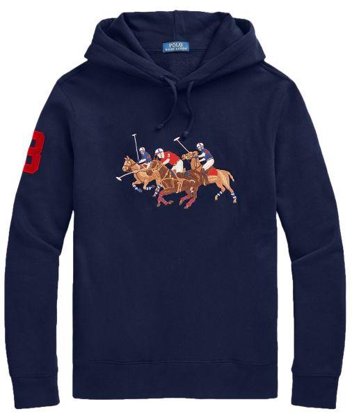 Ralph Lauren Triple Horse Hoodie - Blue