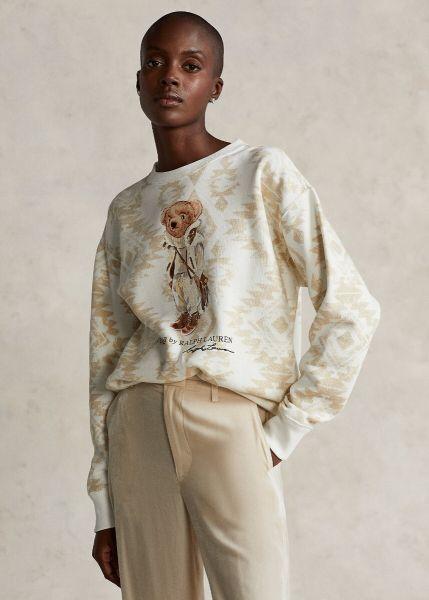 Ralph Lauren Shearling Polo Bear Fleece Sweater - Cream Multi