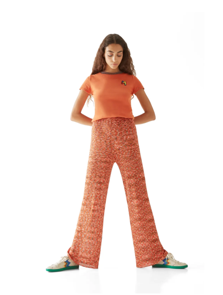 M Missoni Palazzo Pants in Orange Multi Color
