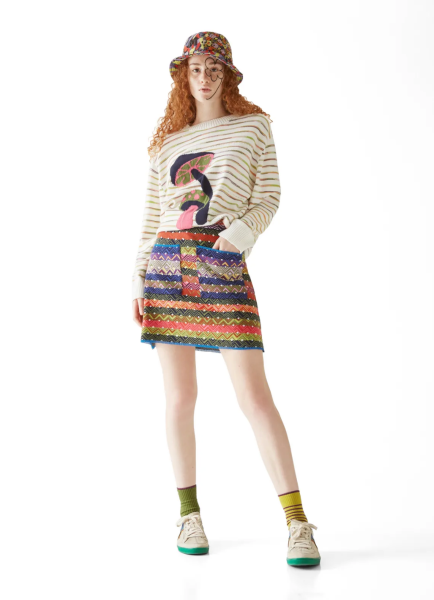 M Missoni Short Skirt in Multicolor