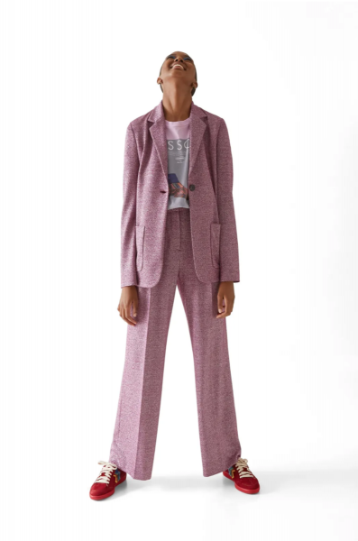 M Missoni Knitted Blazer in Purple