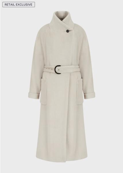 Emporio Armani Alpaca Wool Coat - Beige Caldo