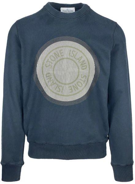 Stone Island Print Sweatshirt - Navy Blue