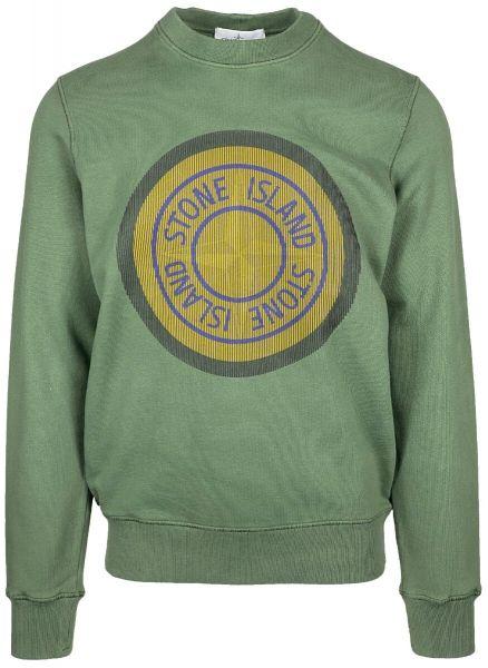 Stone Island Print Sweatshirt - Sage Green