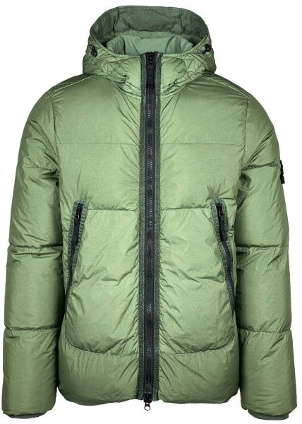 Stone Island Garment Dyed Crinkle Reps NY Down - Sage Green