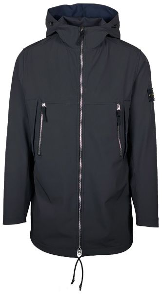 Stone Island Softshell Jacket Long - Dark Blue