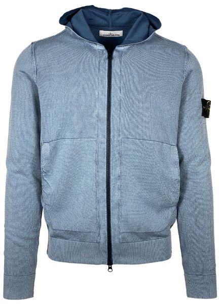 Stone Island White Frost Hooded Cardigan - Blue Grey