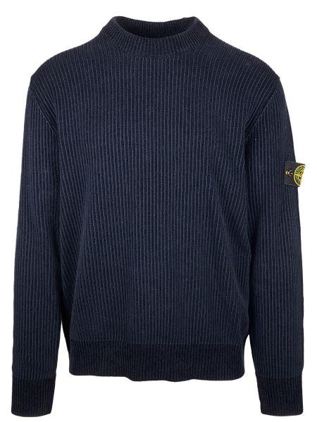 Stone Island Rib Chenille Sweater - Navy Blue