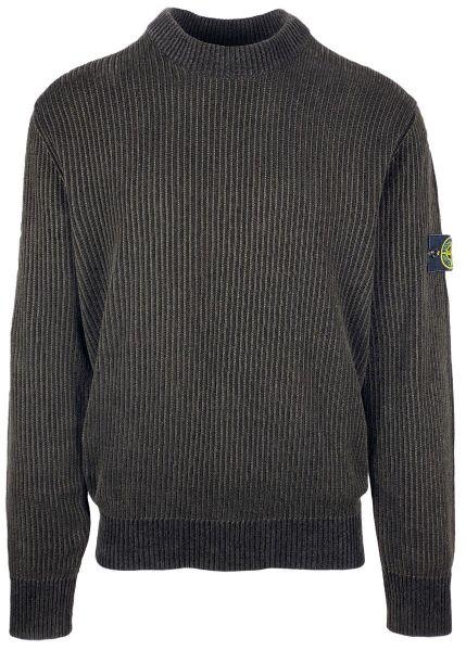 Stone Island Rib Chenille Sweater - Brown