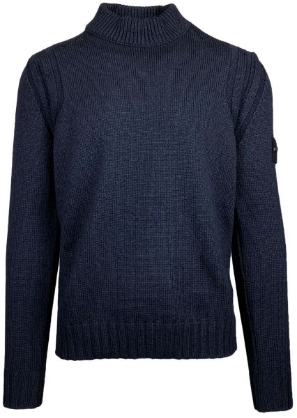 Stone Island Wool Silk Knit - Navy Blue