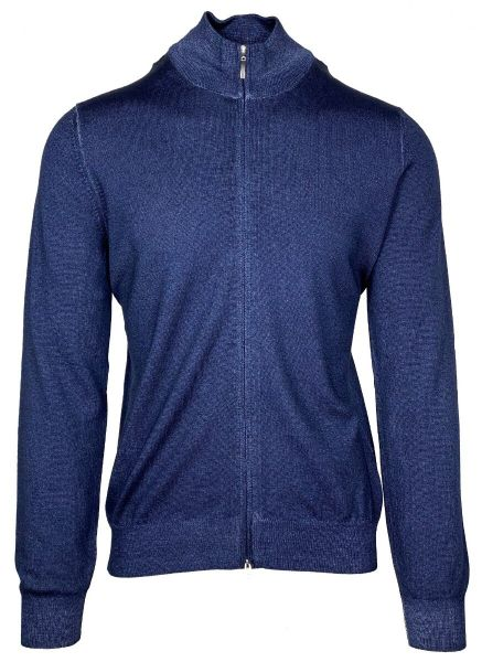 Cellini Knitted Cardigan - Mid Blue